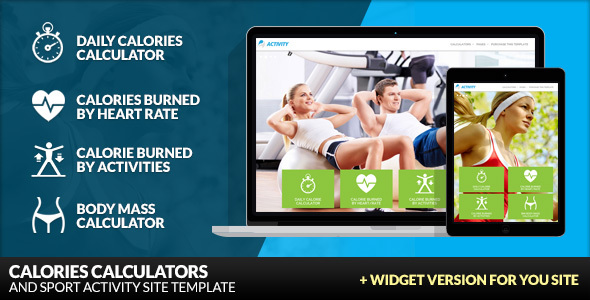 Activity - Calories Calculators and Sport Activity - Health & Beauty Retail