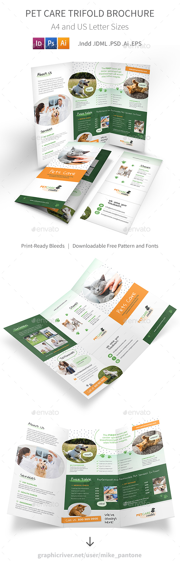 Pet Care Trifold Brochure 6 - Informational Brochures