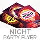 Galaxy Night Party Flyer