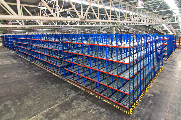 Pallet Storage Racking System for Storage Distribution Center - Stock Photo - Images