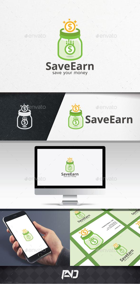 Save Earn Logo Template - Vector Abstract