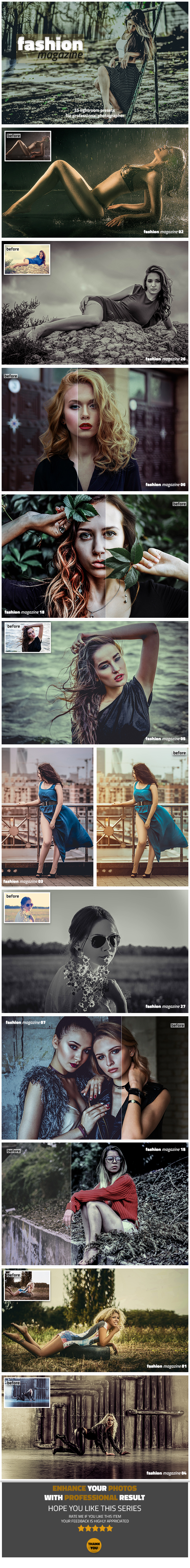 Fashion Magazine Lightroom Presets - Lightroom Presets Add-ons