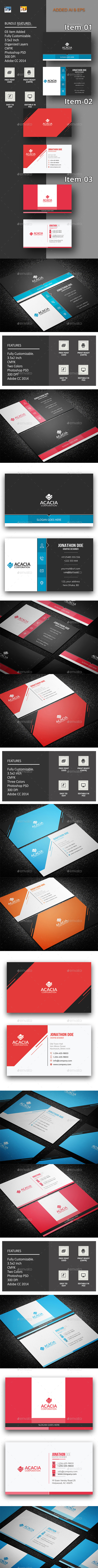 B. Card Bundle_13(03 items) - Corporate Business Cards