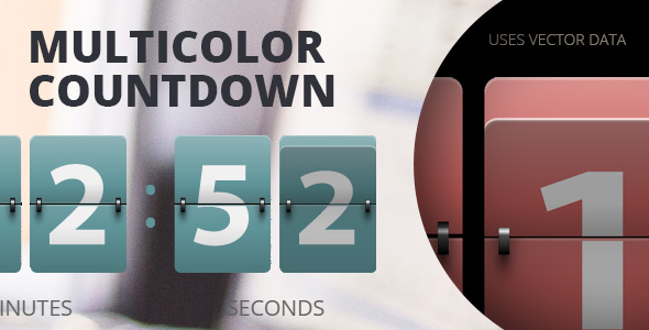 WP: Resizable Multicolor Countdown - CodeCanyon Item for Sale