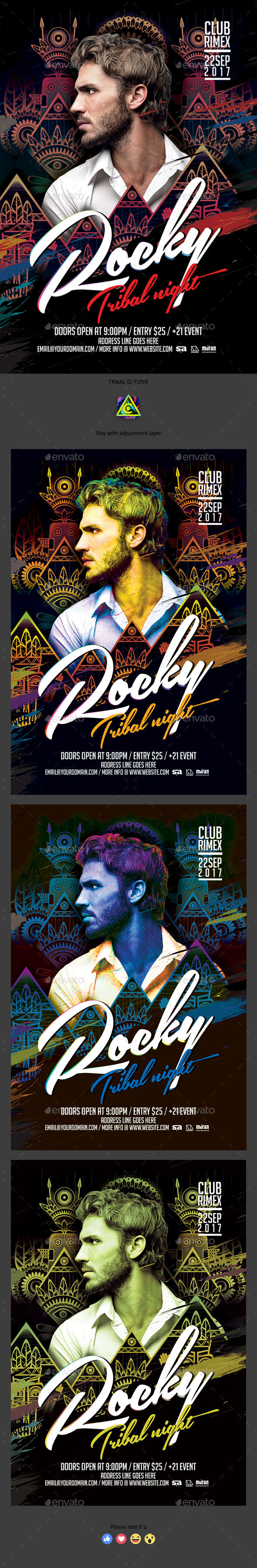 Tribal Night Guest Dj Flyer - Clubs & Parties Events
