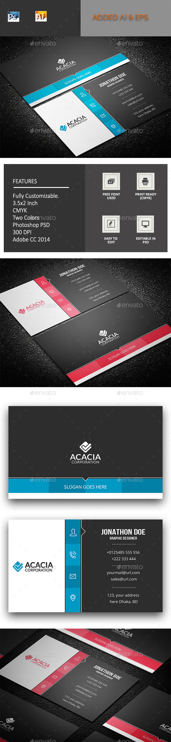 Sadharon Business Card - Corporate Business Cards