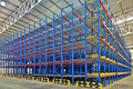Warehouse storage shelving racking systems