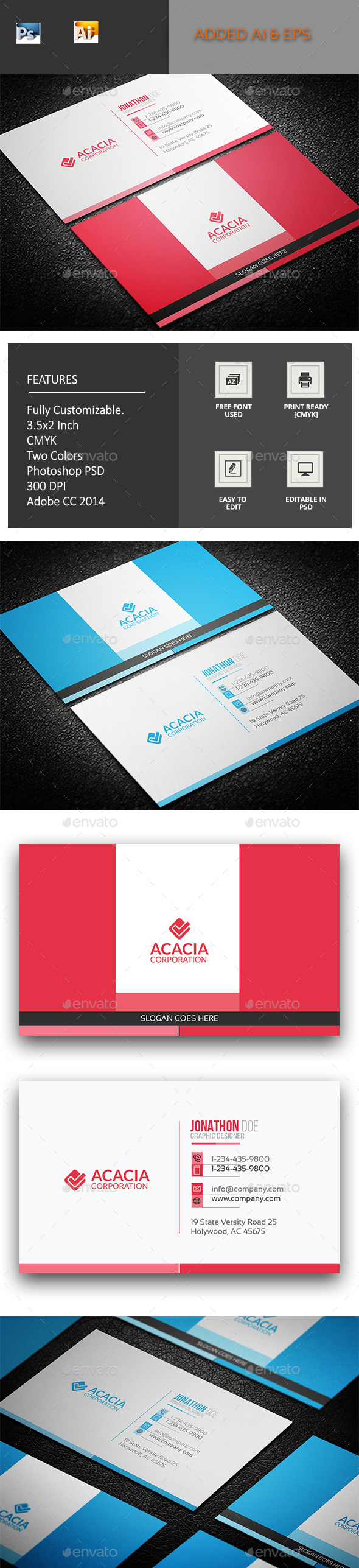 Saintm Business Card - Corporate Business Cards