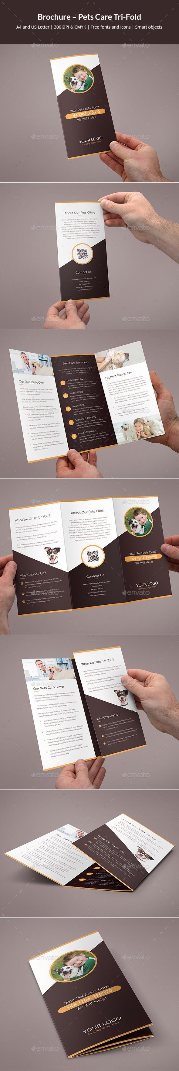 Brochure – Pets Care Tri-Fold - Informational Brochures