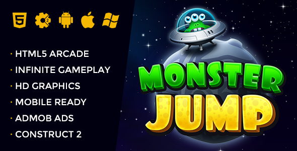 Monster Jump - Endless Jumping Arcade - CodeCanyon Item for Sale