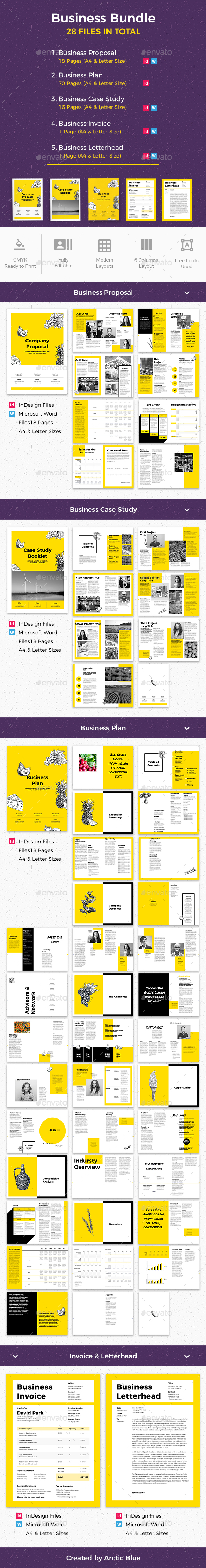 Business Bundle - Proposals & Invoices Stationery