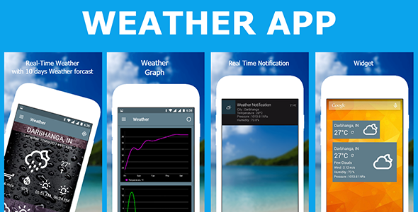 Weather App with admob - CodeCanyon Item for Sale