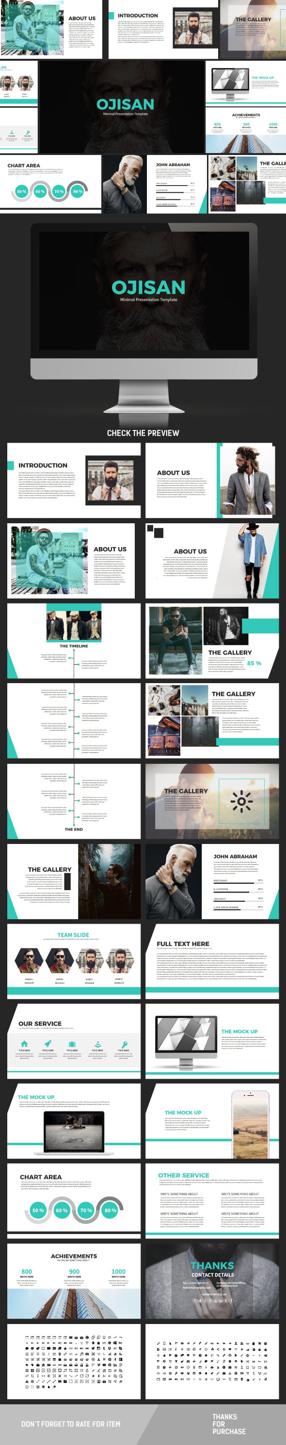 Ojisan Powerpoint Template - Creative PowerPoint Templates