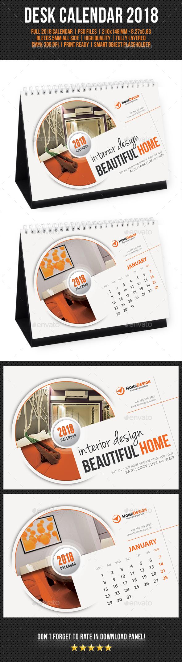 Creative Desk Calendar 2018 V06 - Calendars Stationery