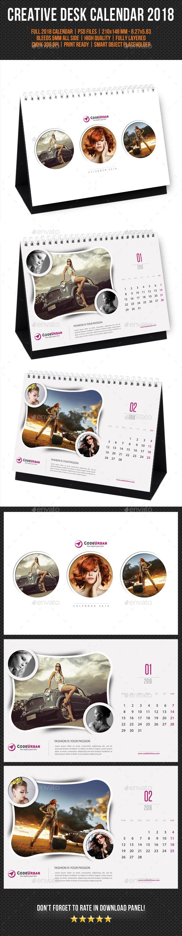 Creative Desk Calendar 2018 V07 - Calendars Stationery