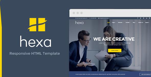 Hexa – Responsive Multipurpose Responsive HTML Template