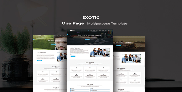 Exotic – One Page MultiPurpose Template