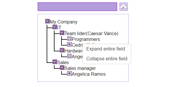 Drop Down Tree - Combo Box Tree View with Autocomplete