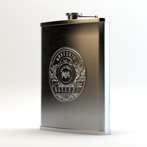 Alcohol Hip Flask Stainless Steel - 3DOcean Item for Sale