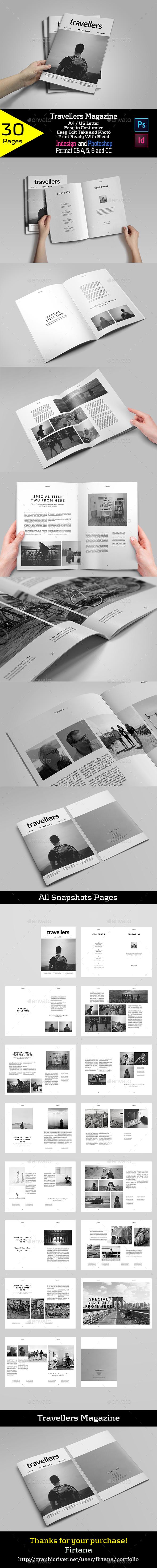Travellers Magazine - Magazines Print Templates