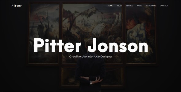 Pitter – Personal Portfolio Template
