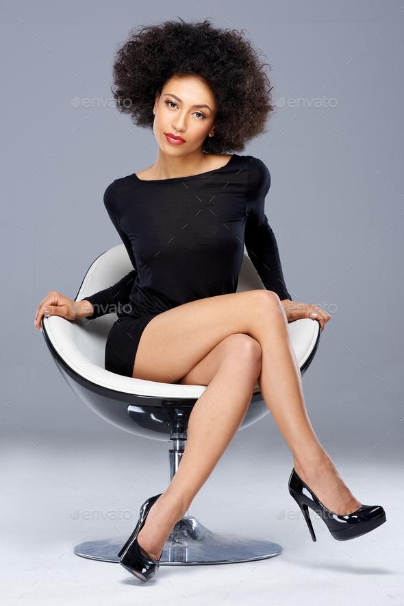 Elegant beautiful African American woman - Stock Photo - Images