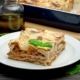 Portion of Tasty Lasagna on Wooden Backgound - VideoHive Item for Sale