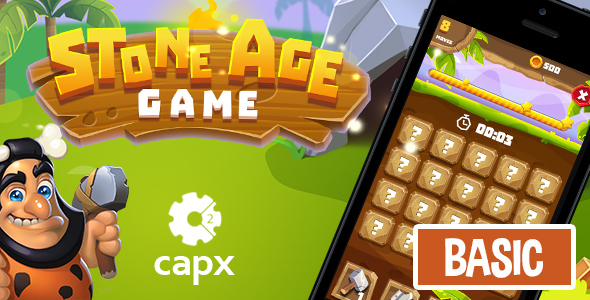 Stone Age HTML5 Game [ BASIC ] + Capx - CodeCanyon Item for Sale
