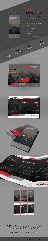 Creative Modern Tri-Fold Brochure - Brochures Print Templates
