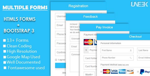 Responsive Html5 Forms With Bootstrap 3 By Uneekcc1 Codecanyon