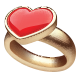 Golden Ring with Heart - GraphicRiver Item for Sale