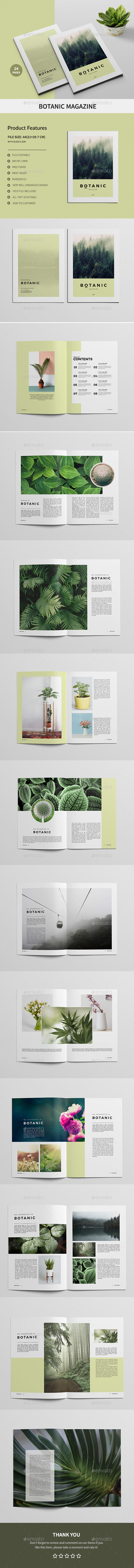 Botanic Magazine - Magazines Print Templates