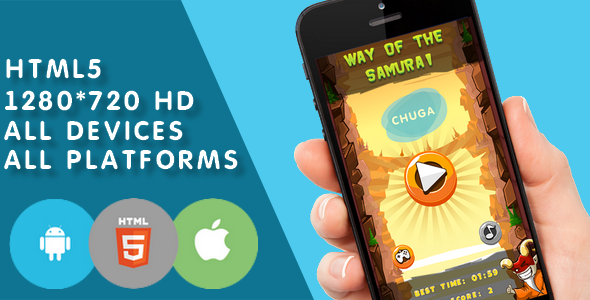 Way of the Samurai-html5,game, construct2 - CodeCanyon Item for Sale