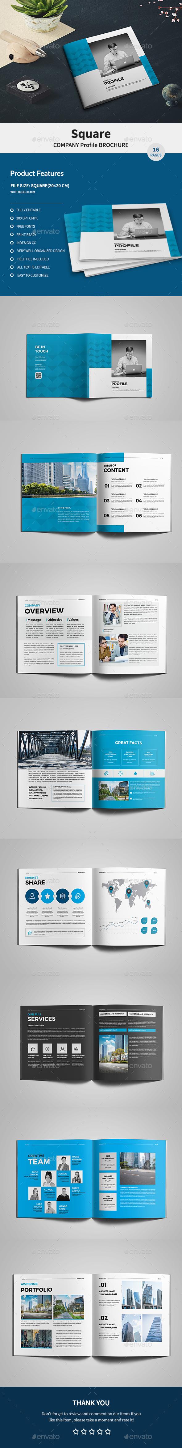 Square Company Profile Brochure - Corporate Brochures