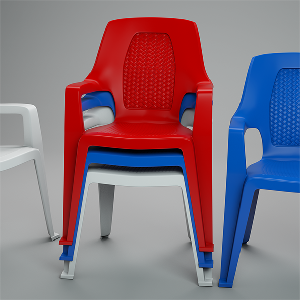 Plastic Chair - 3DOcean Item for Sale