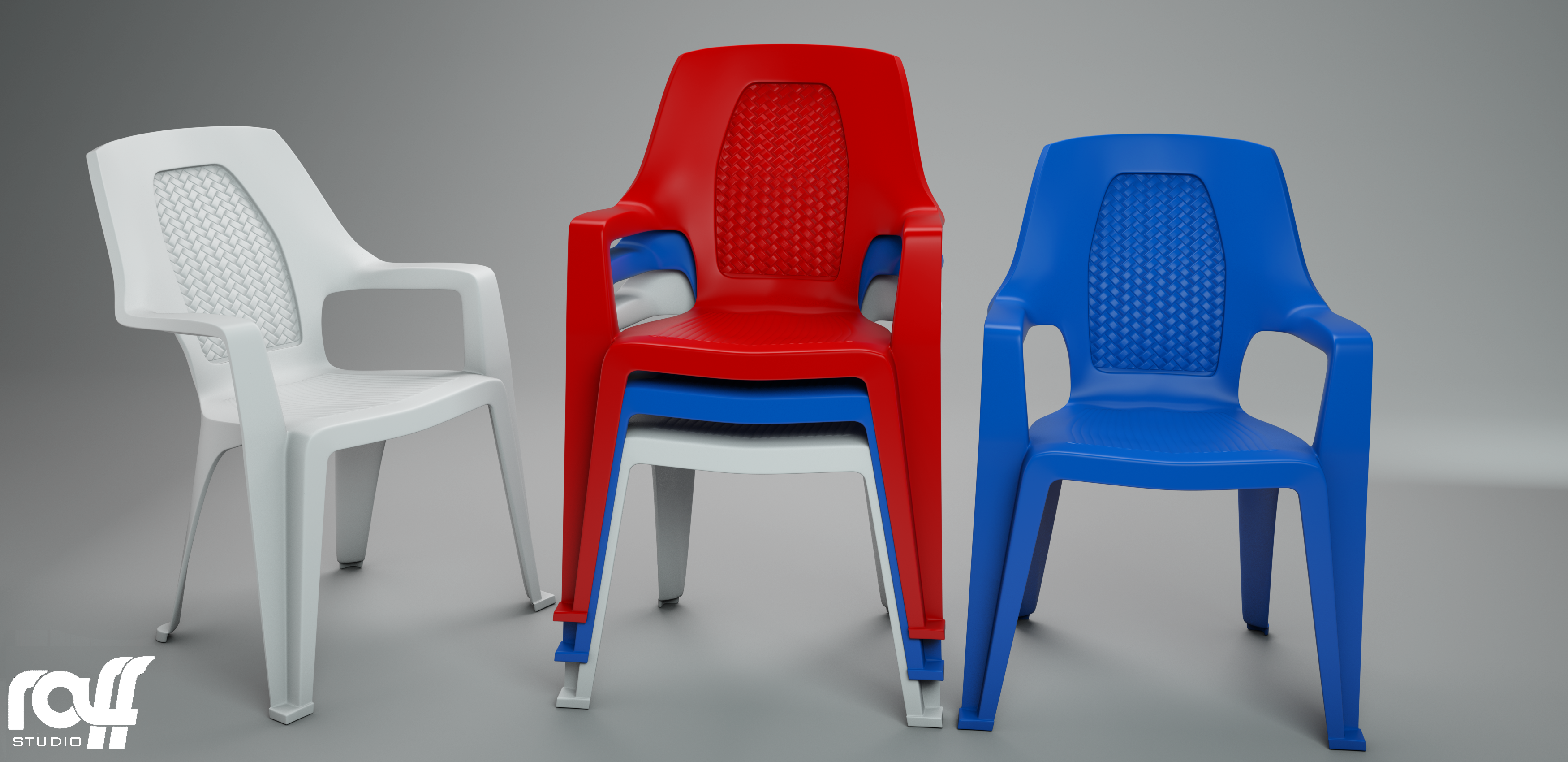 Plastic Chair By Raff Studio 3docean