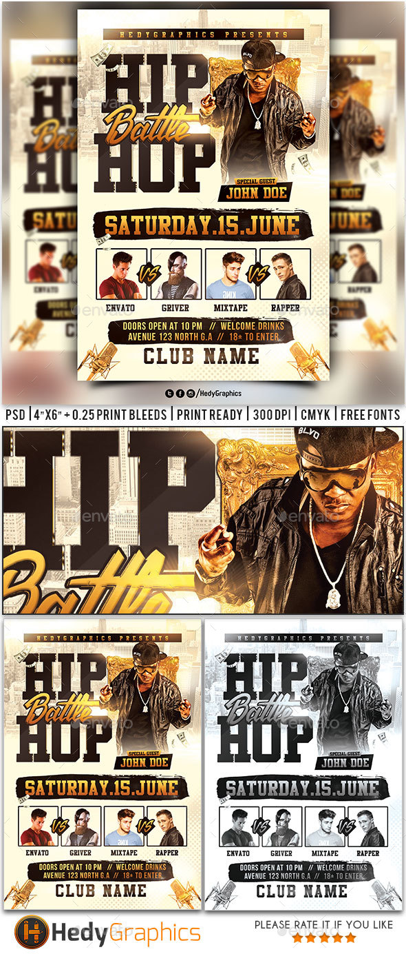 HipHop Battle - Flyer Template - Clubs & Parties Events