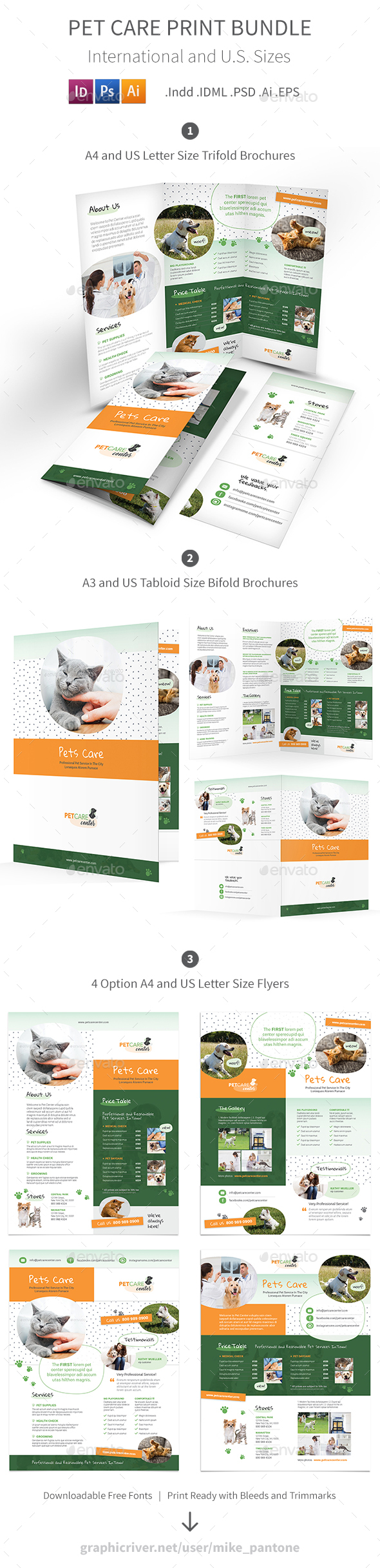 Pet Care Print Bundle 6 - Informational Brochures