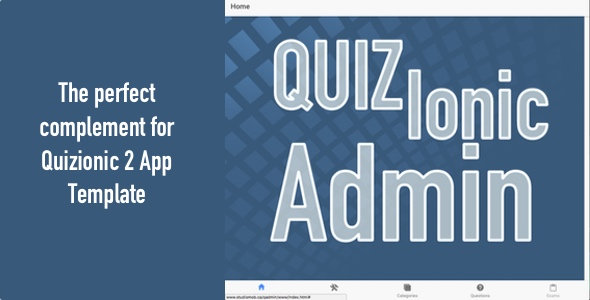 Quizionic Admin Panel for Quizionic 2 - CodeCanyon Item for Sale