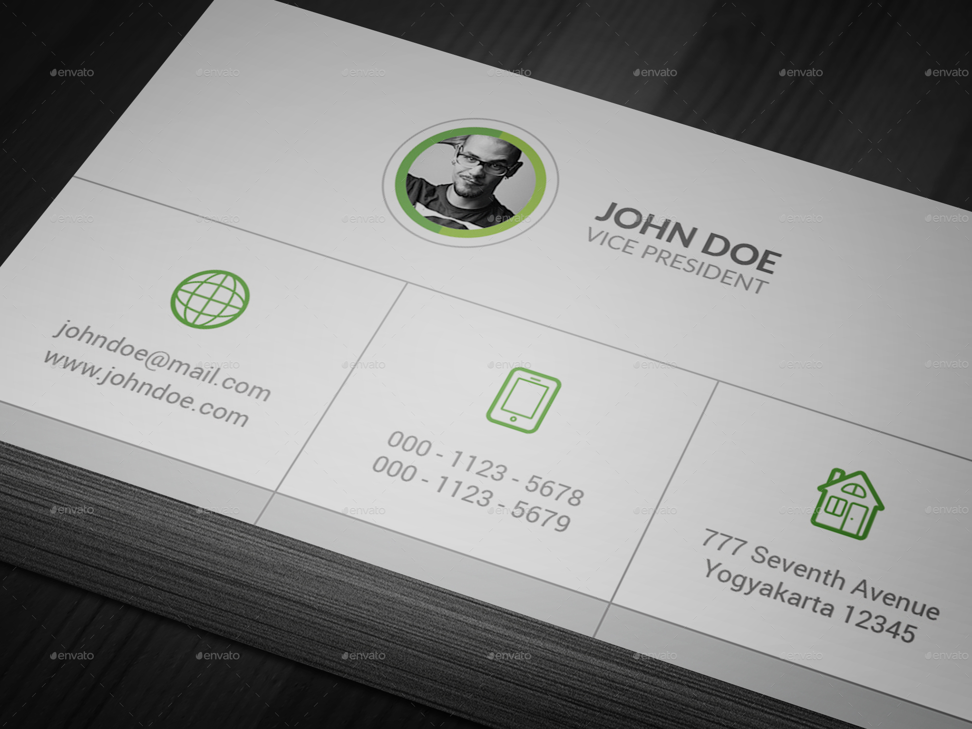 Clean - Corporate Business Card by batavia | GraphicRiver