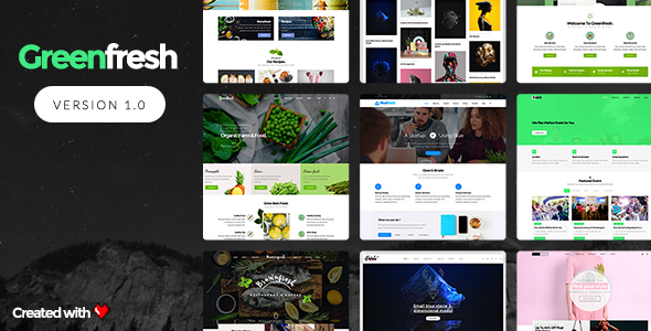 GreenFresh - Creative Multiuse WordPress Theme