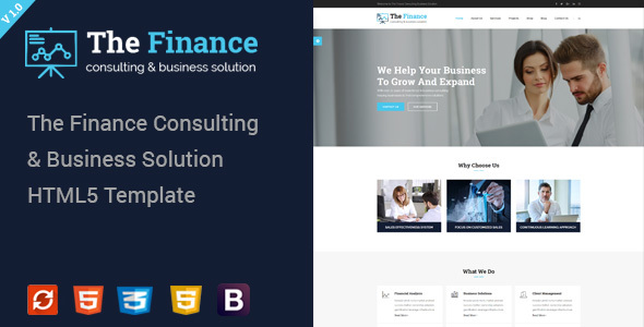 The Finance – Business Consulting and Professional Services HTML Template