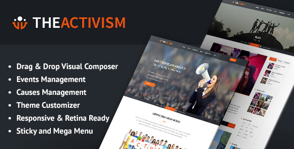 The Activism : Political Activism WordPress Theme by Softwebmedia [19677413]