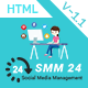 SMM24 | Multipurpose Social Media Management and Marketing HTML Template
