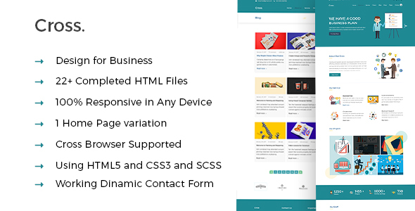 Cross - Business and Consultation HTML5 Template - Business Corporate