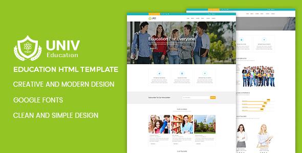 Univ – Education HTML5 Template - Nonprofit Site Templates