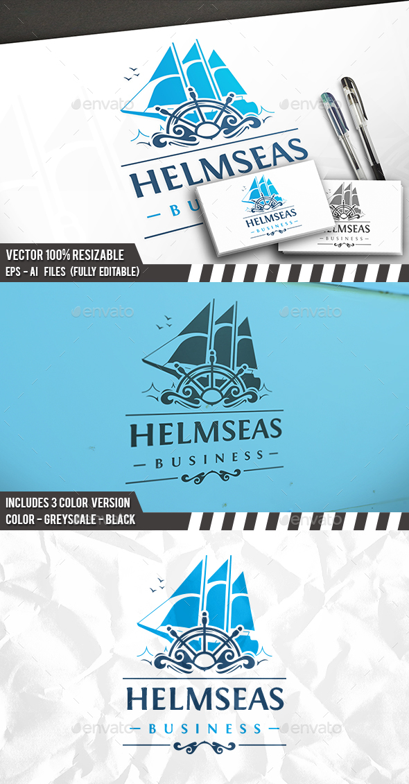 Helm Sail Logo - Crests Logo Templates