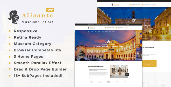 Alicante - Museum & Exhibition WordPress Theme