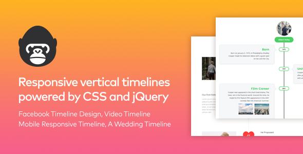 Timeline Gorilla - Responsive Vertical jQuery Timeline - CodeCanyon Item for Sale