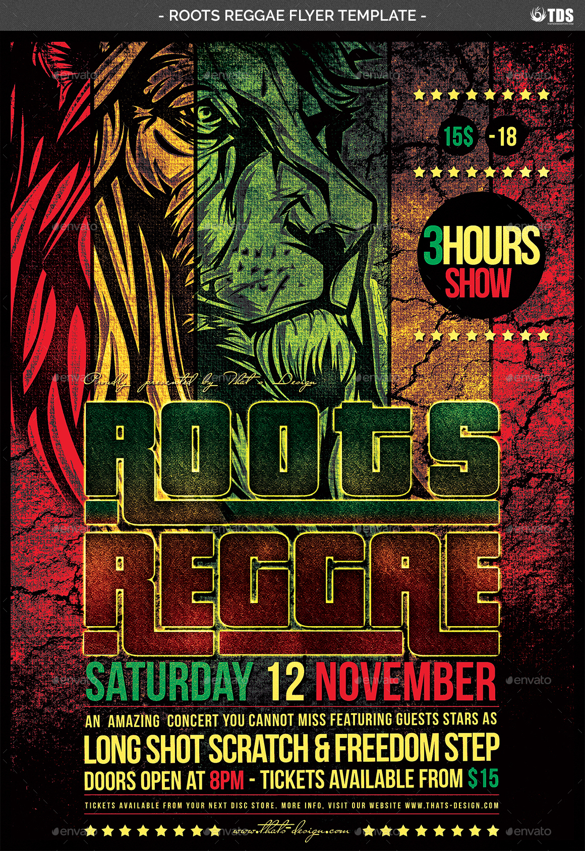 roots reggae flyer template by lou606
